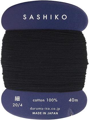 #219 black 40m fine Yokota Daruma sashiko thread