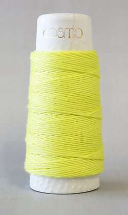 #88-12 Lecien Cosmo Hidamari sashiko thread 30m fine citrus yellow
