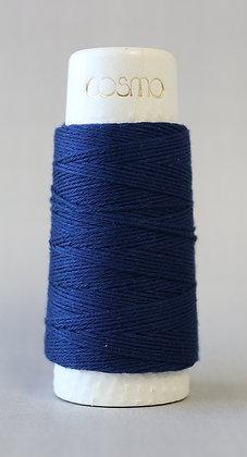 #88-05 Lecien Cosmo Hidamari sashiko thread 30m fine dark blue