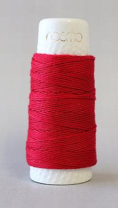 #88-07 Lecien Cosmo Hidamari sashiko thread 30m fine deep red