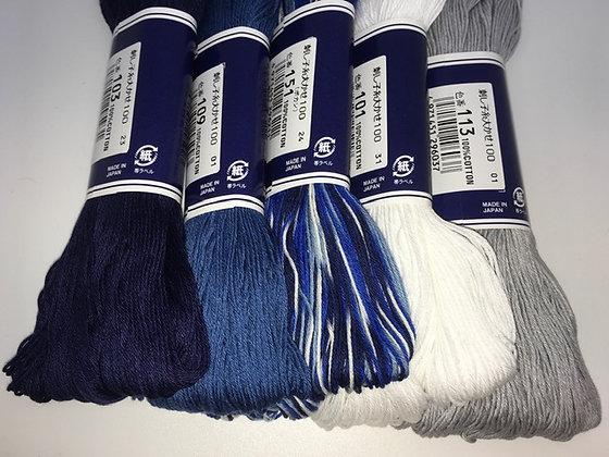 midwinter MEGA 5 x 100m sashiko threads pack