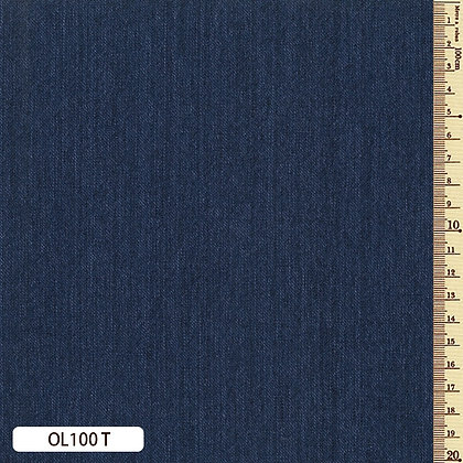 OL100T Sakizome Momen 'indigo' blue 'denim look' cotton by the half metre