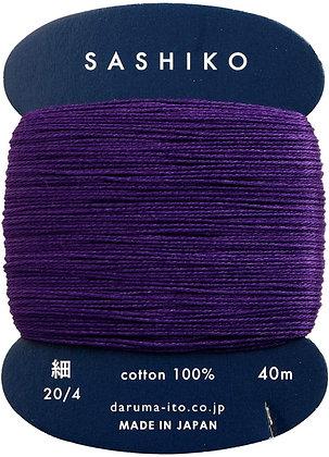 #223 imperial purple 40m fine Yokota Daruma sashiko thread