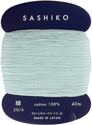 #206 pale jade green 40m fine Yokota Daruma sashiko thread