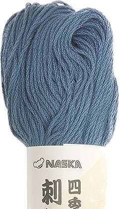 #115 mid indigo blue 80m stranded sashiko/kogin thread