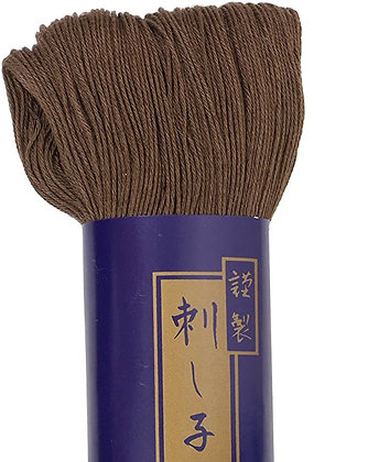 #4 dark brown 170m fine Yokota Daruma sashiko thread