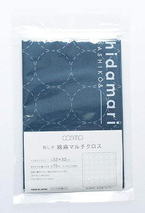 Lecien Cosmo 'hidamari' blue sashiko sampler