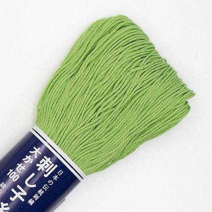 #107 light leaf green 100m medium sashiko thread
