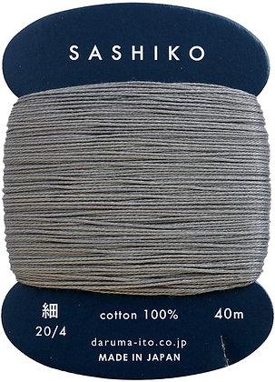 #229 dark grey 40m fine Yokota Daruma sashiko thread