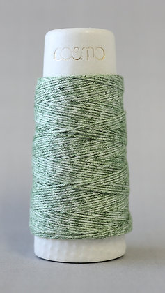 #89-202 Lecien Cosmo Hidamari sashiko thread 30m fine green marl