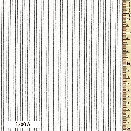 2700A striped shima momen cotton white by the half metre