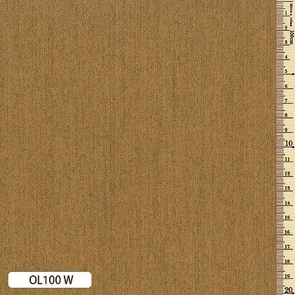 OL100W Sakizome Momen mustard yellow cotton by the half metre