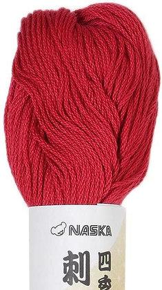 #105 deep red 80m stranded sashiko/kogin thread