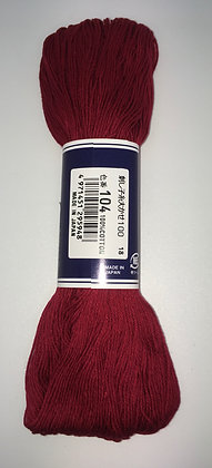 #104 deep red 100m medium sashiko thread