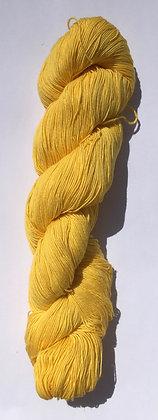#13 fine sashiko thread 370m skein lemon yellow