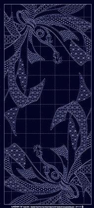 QH105N 'Noshi Gift' sashiko panel INDIGO