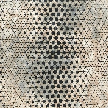 'Pop Dot' batik by Anthology - bone