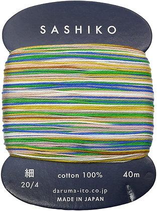 #502 tanabata multi colour 40m fine Yokota Daruma sashiko thread