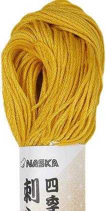 #107 gardenia yellow 80m stranded sashiko/kogin thread