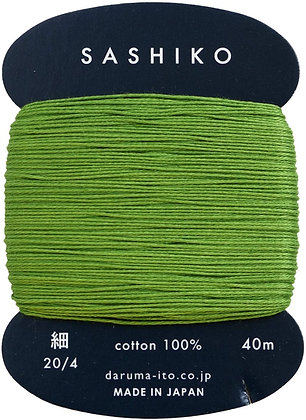 #227 spring green 40m fine Yokota Daruma sashiko thread
