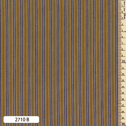 2710B striped shima momen cotton mustard yellow by the half metre