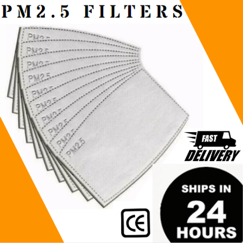 50/100/500/1K PC - PM2.5 CARBON ACTIVATED FILTER INSERTS.[$.60 - $.41/PC]