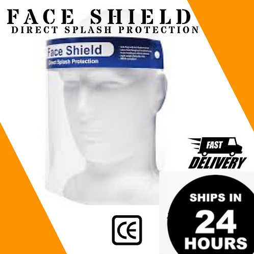 10/50/100/500/1K PCS- Full Face Shield W/ Padding [ $2.55 - $1.85/PC ]