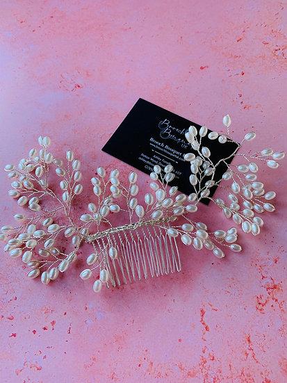 Pearl Vine Bridal Hair Slide