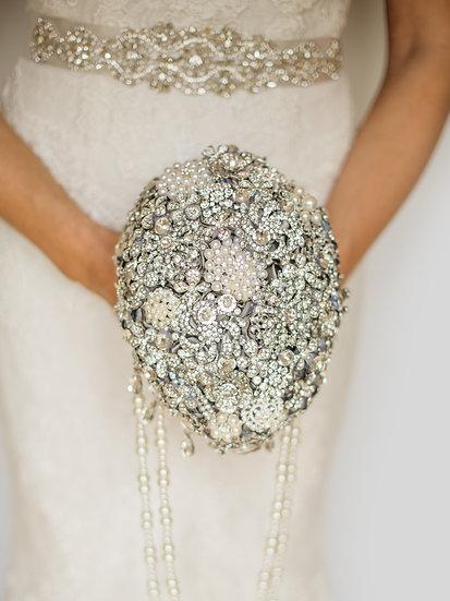 For Sale - Brooch Bouquet Teardrop Style