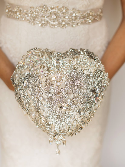 For Sale - Brooch Bouquet Heart Style