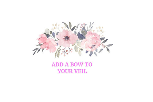 Add a Bow to Your Veil