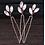 Thumbnail: Oval Crystal Hair Pins (3)
