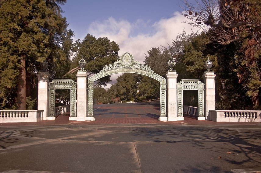 The famous Sather Gate at the University