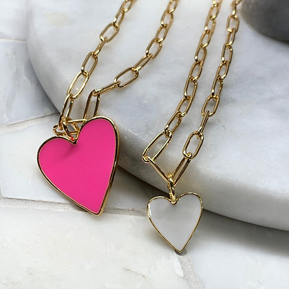 ENAMEL HEART 2X