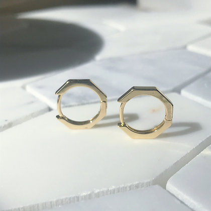 GOLD OCTAGONAL HOOPS