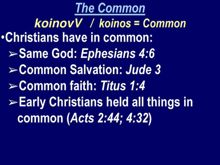 COMMON FAITH AND COMMON SALVATION