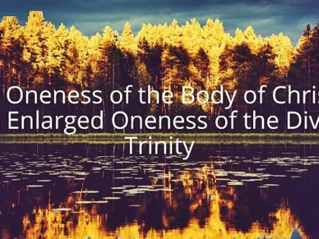Do you know that diversity in unity expresses the Trinity?