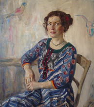 Fedor Olevskiy. Portrait of an artist Marina Smirnova