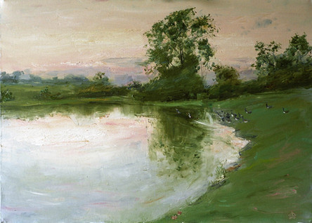 Fedor Olevskiy. Landscape at Bulby Hall No4.