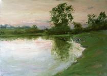 Fedor Olevskiy. Landscape at Bulby Hall No4.