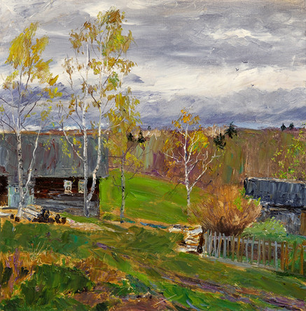 Fedor Olevskiy. Autumn in the village