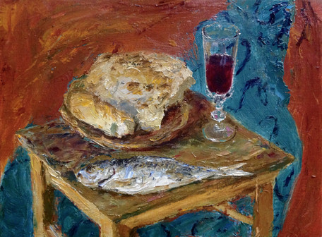 Fedor Olevskiy. Fish, Bread and Wine