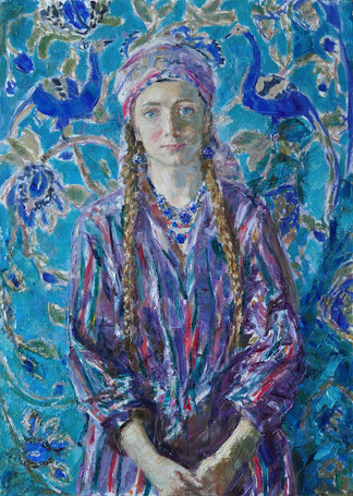 Fedor Olevskiy. Portrait of the artist's wife in oriental costume