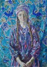Fedor Olevskiy. Portrait of the artist's wife in oriental costume