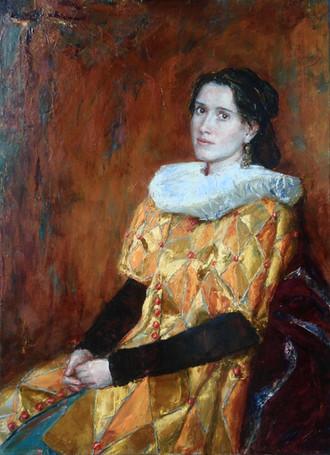 Fedor Olevskiy. Portrait of Elena Burlakova