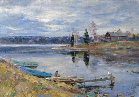 Fedor Olevskiy. Quiet evening on the river Svir