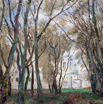 Fedor Olevskiy. Willow near the St. George's Monastery. Novgorod