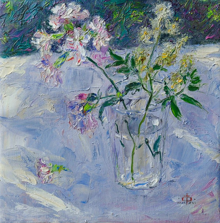 Fedor Olevskiy. Flowers in a Glass with Water