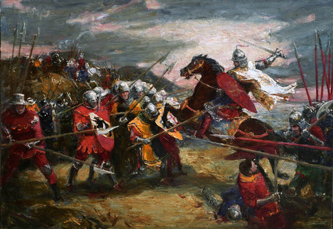 Fedor Olevskiy. Battle Scene  No2