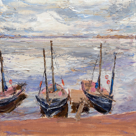 Fedor Olevskiy. Fishing boats on the Lake Ilmen